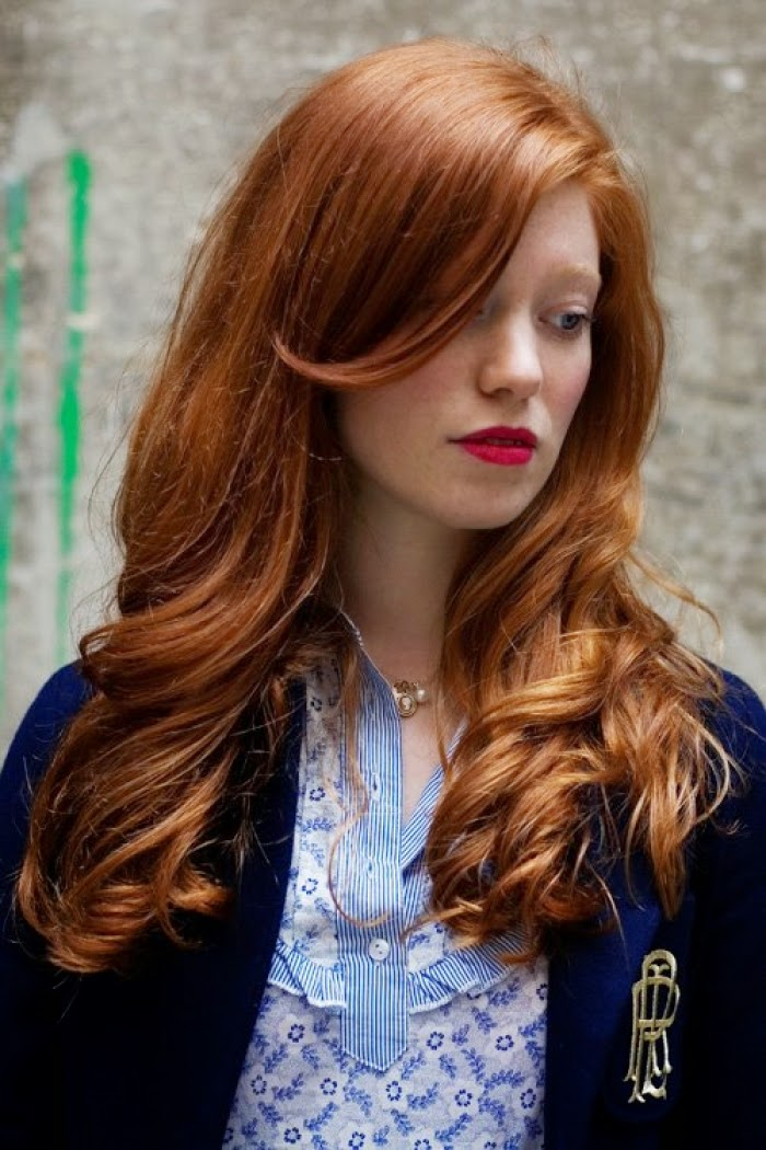 Shades of red hair red hair color ideas hairstyles hair simply because your skin carries a lot more pigments your hair can too go for a medium coppery blonde to medium auburn shade urmus Images