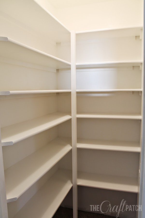 how to build pantry shelves