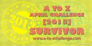 A to Z Challenge Survivor 2013