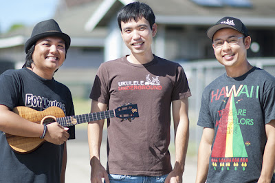 aldrine, ryan and aaron of ukulele underground