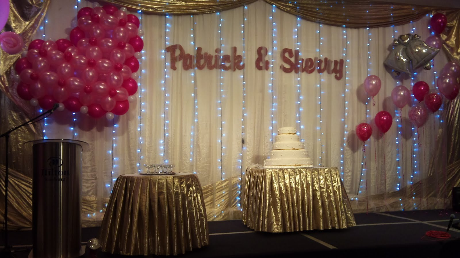 Balloon decorations for weddings birthday parties balloon patrick sherry wedding decoration hilton hotel kch junglespirit Choice Image