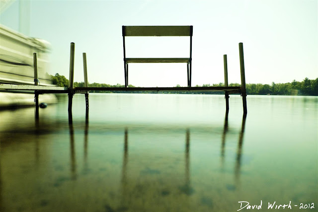 bench on the dock, cottage, lake shore, smooth glass water, nd filter, make, how to
