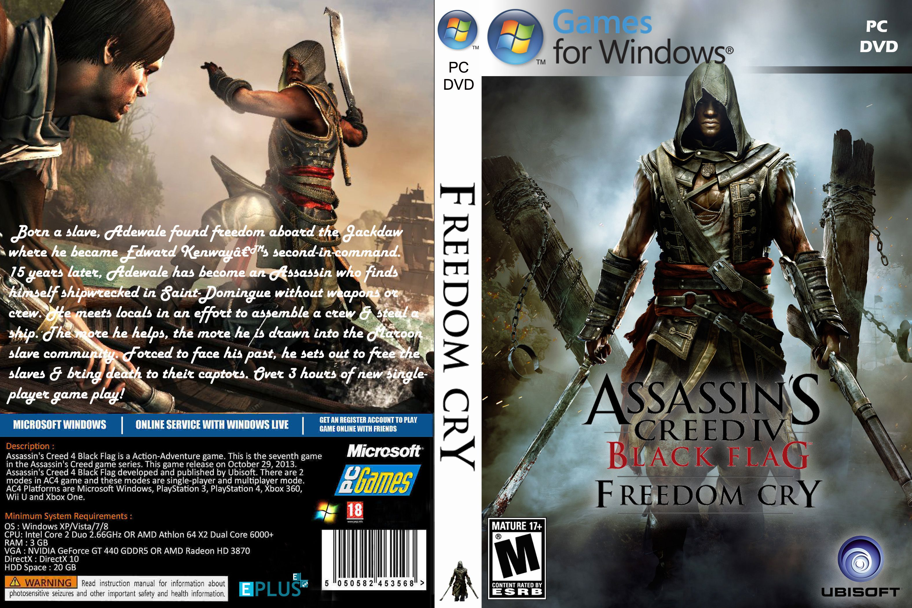 Capa Assassins Creed IV Black Flag Freedom Cry PC