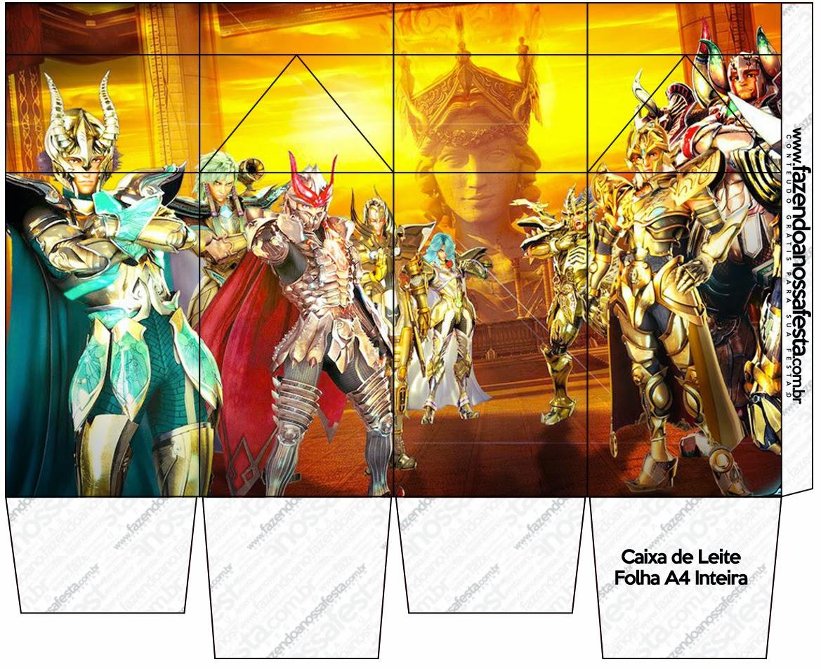 Cajas de Caballero del Zodiaco para imprimir gratis.
