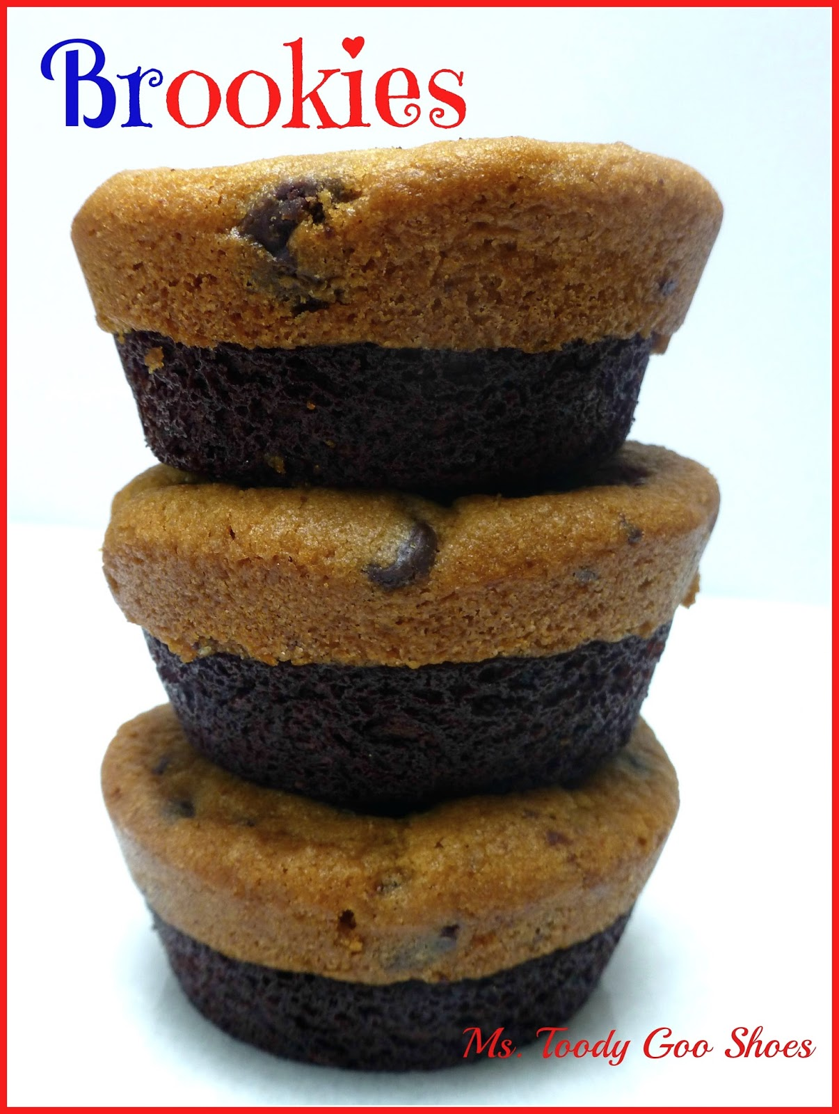 Brookies: All you need are two ingredients for thes  half brownie, half cookies…by Ms. Toody Goo Shoes