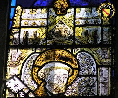 PULLIGNY (54) - L'église Saint-Pierre-aux-Liens (XVe-XVIIIe siècle) - Vitrail du XVIe