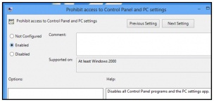 Cara Mengaktifkan Atau Mematikan Control Panel And PC Settings Pada Windows 8