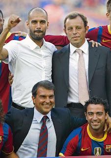 Guardiola y Xavi representan el futuro del Barcelona
