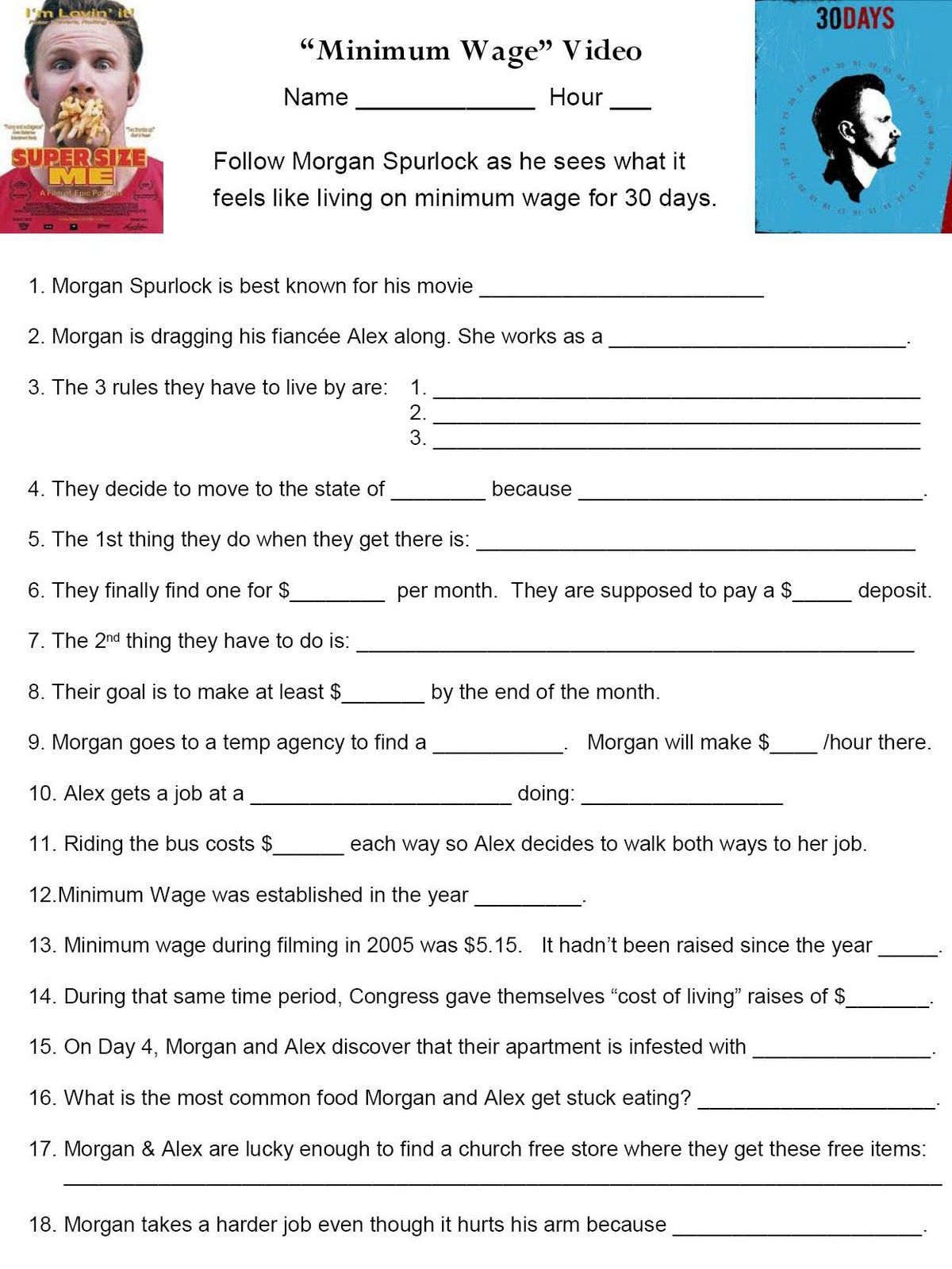 Uncategorized Supersize Me Worksheet zombie math teacher mlk day of service integrating with teacher