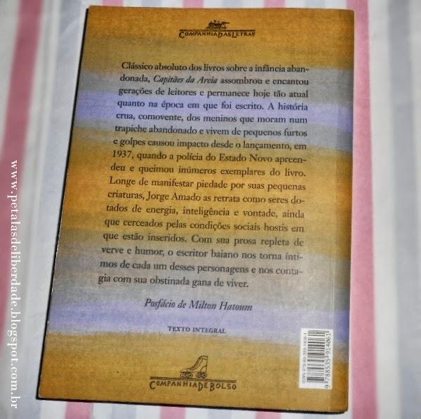 Contracapa, livro Capitães da Areia, Jorge Amado, resumo, sinopse, filme, companhia de bolso, Bahia, clássico, literatura nacional