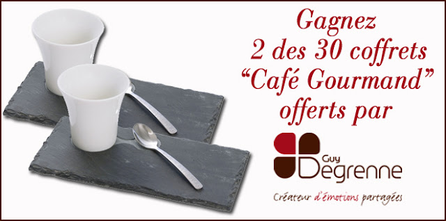 30 lots de 2 coffrets Café Gourmand Guy Degrenne