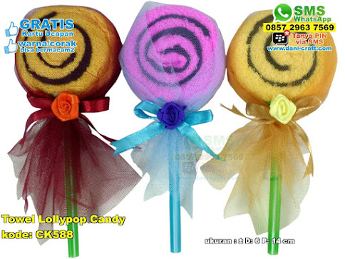 Towel Lollypop Candy