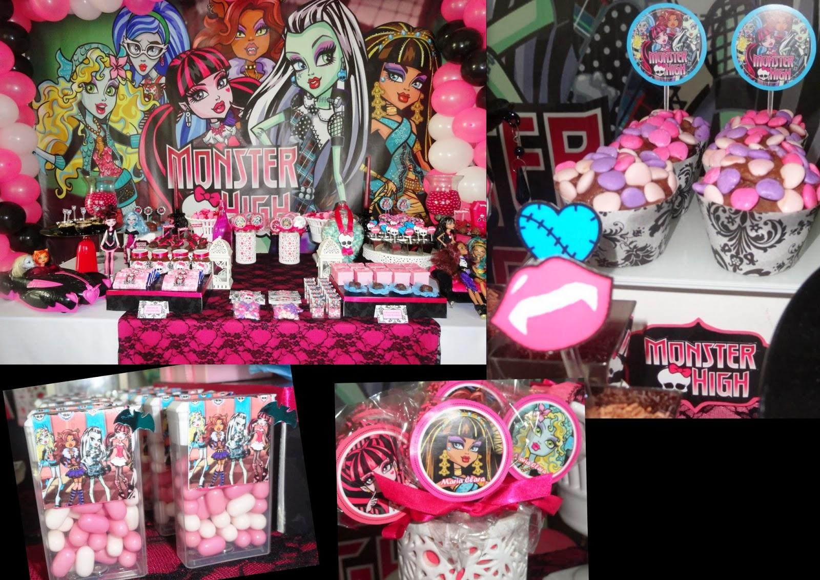 Kit Monster High en Rosa, para Imprimir Gratis. - Ideas y material gratis  para fiestas y celebraciones Oh My Fiesta!