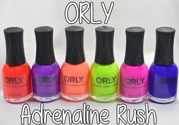 Orly Adrenaline Rush swatches