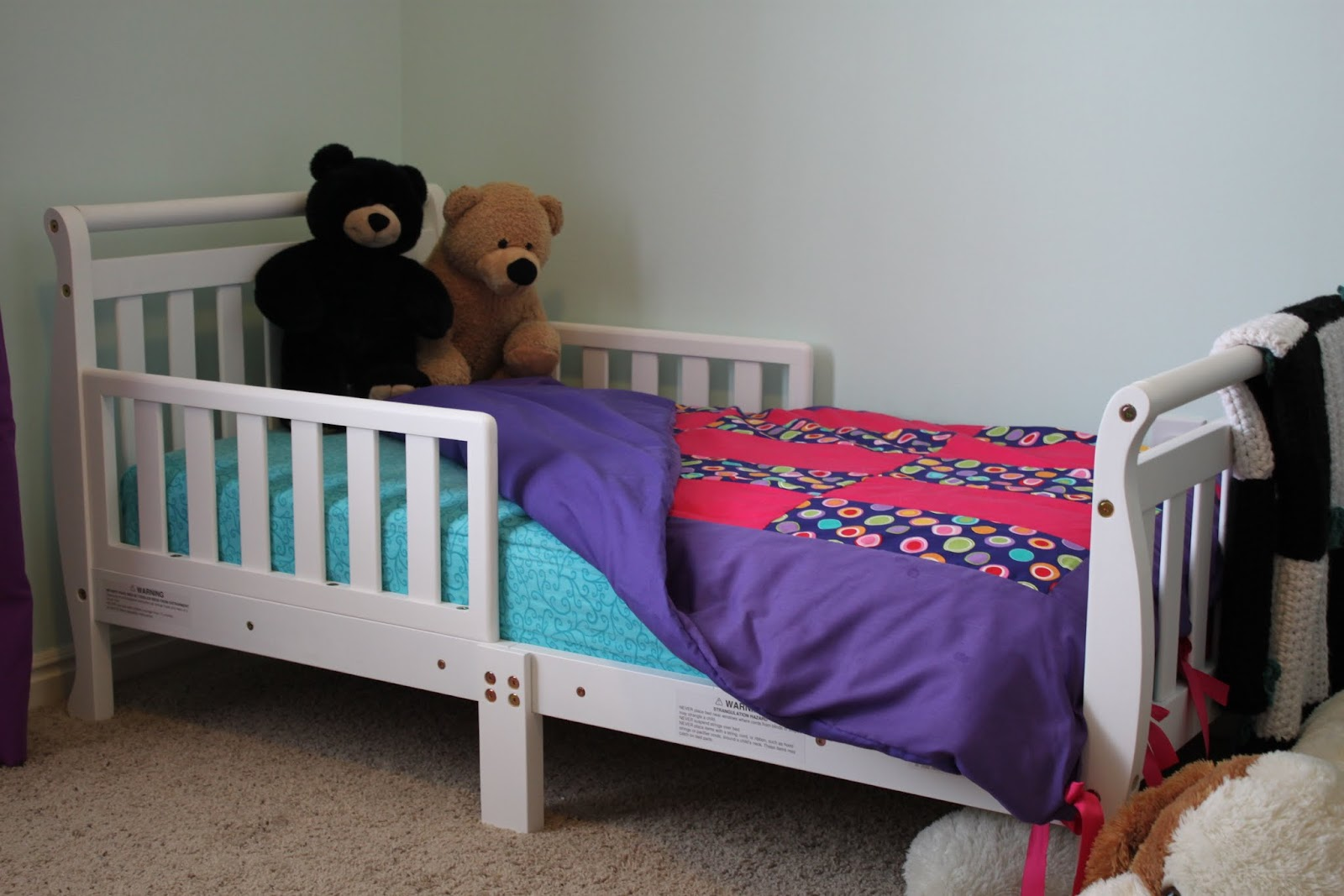 Notion 2 Craft Repurposed Bumper Pads Into Toddler Duvet