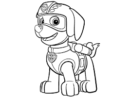 Paw Patrol Badge Coloring Page