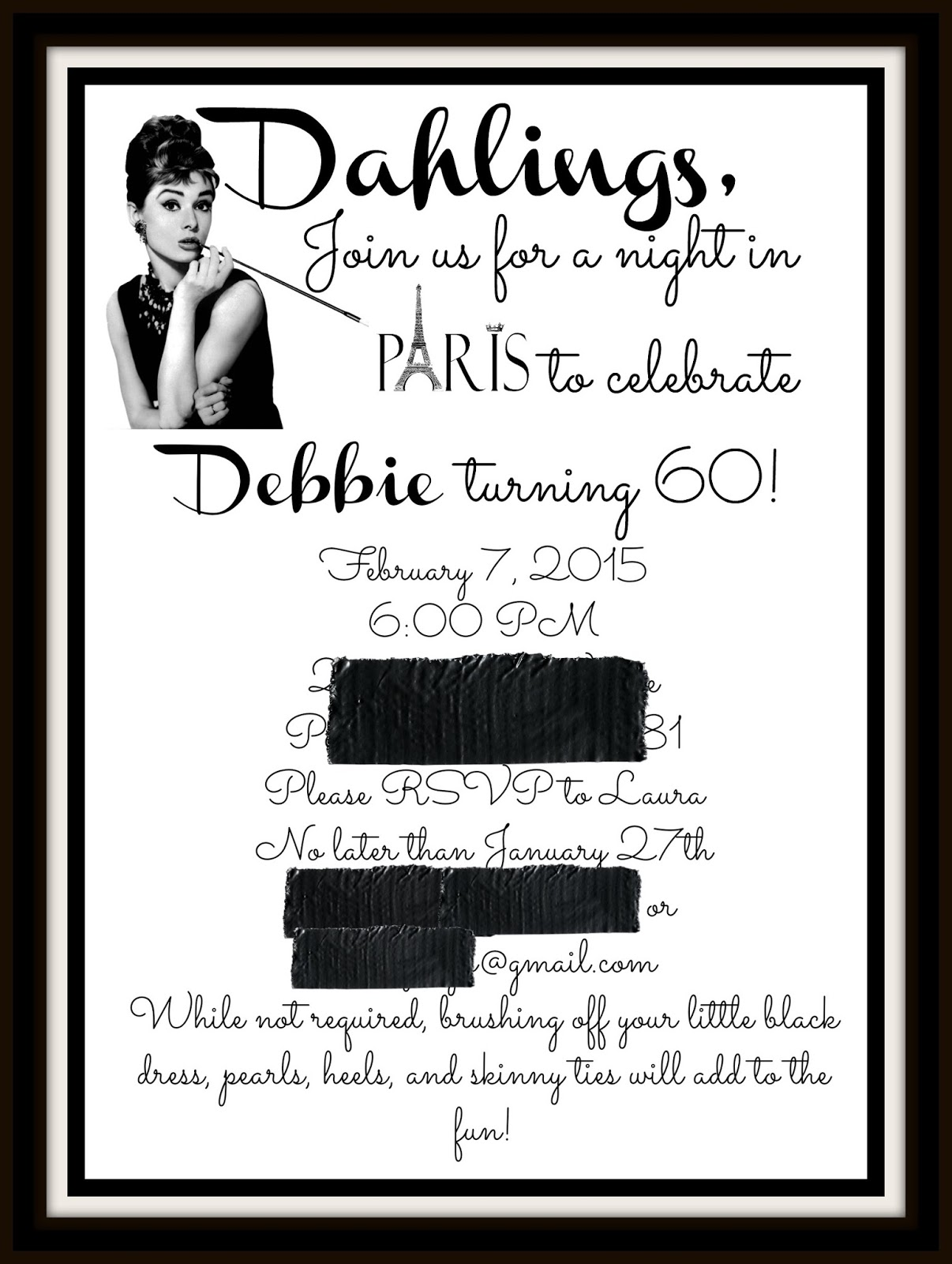 The Ozinga Outlook: Old Hollywood Birthday Party-Mom Turns 60!