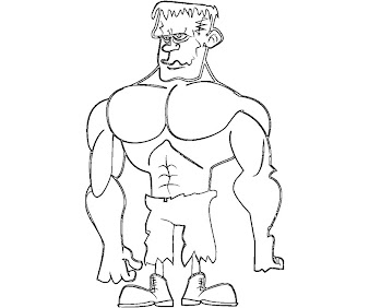 #4 Frankensteins Coloring Page