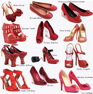 Sapatos vermelho: Lindos e femininos, de salto alto