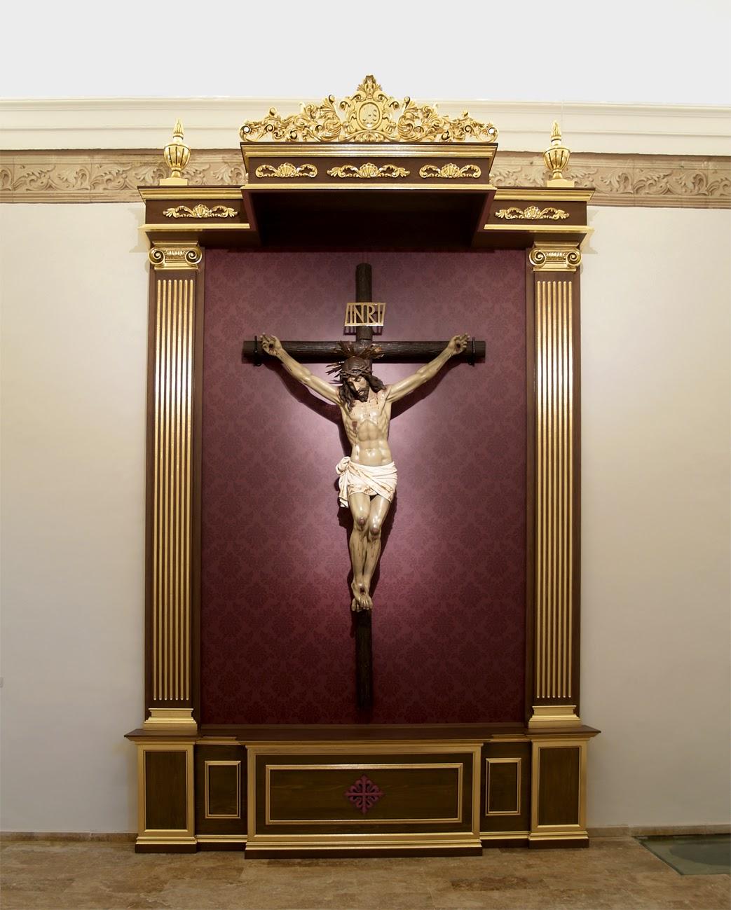 Taller de arte religioso salmer n dosel para el cristo de - Maderas moral ...