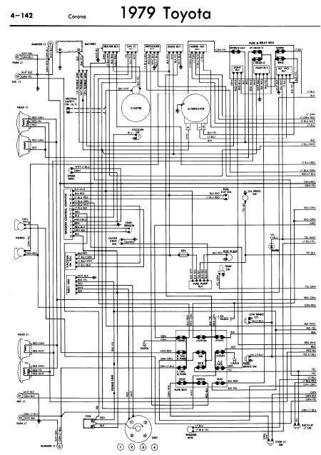 1979 toyota pickup wiring diagram  wiring diagram wave