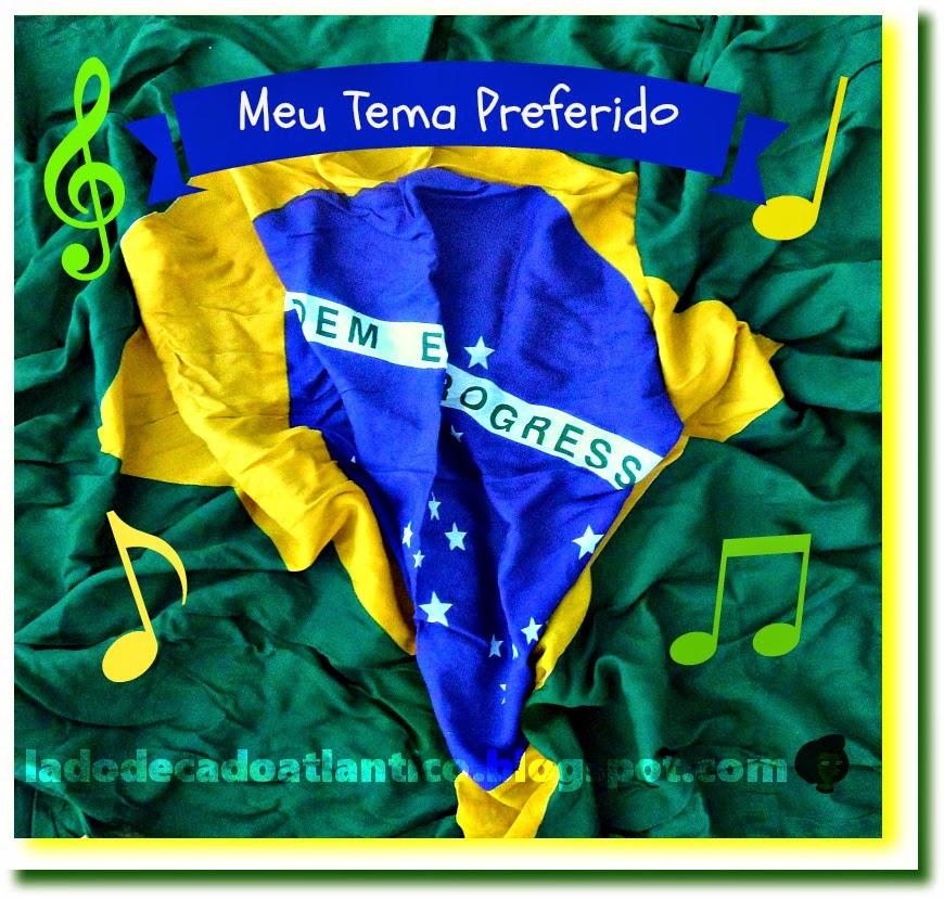 Imagem de bandeira do Brasil para a BC Musical sobre Tema Preferido de Copa do Mundo