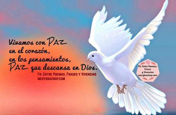 Reflexión corta cristiana de la paz, frases, versículos de paz para amigos, cita bíblica. Mensaje cristiano de paz, Mery Bracho.