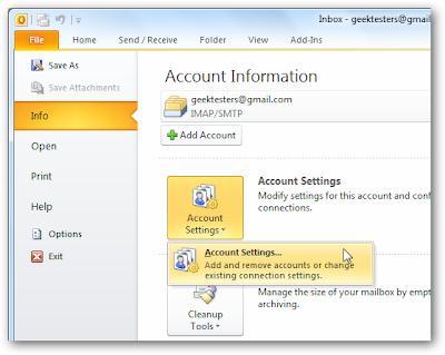 how to create offline folders in outlook 2007