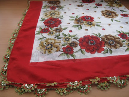 Needlework scarf,tablecloth,shawl