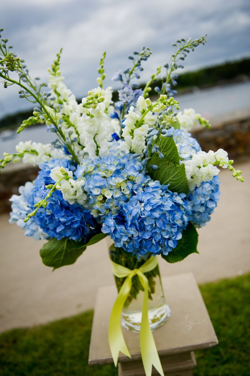 Emily carter floral designs blue yellow and white wedding izmirmasajfo
