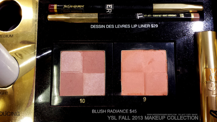 YSL Fall 2013 Makeup Collection Blush Radiance Satin and Matte Blush No 10 9 Beauty Blog Photos Swatches
