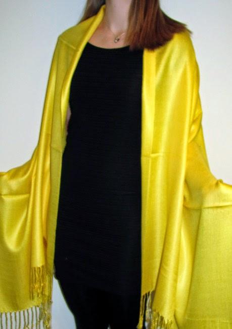 How to wear a pashmina shawl wrap