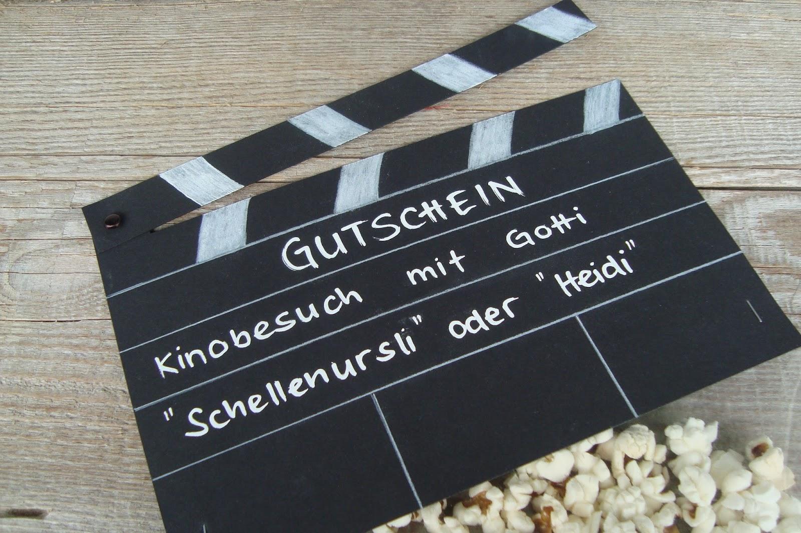Kleefalter: Kinogutschein verschenken