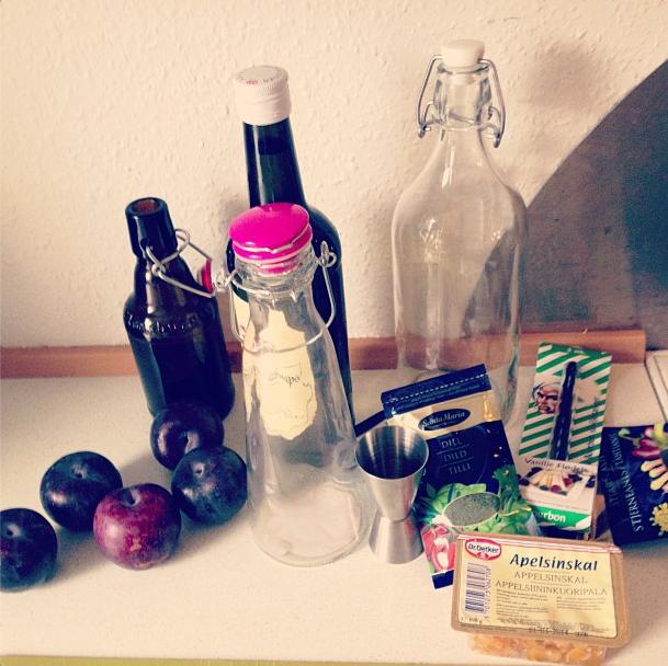 halv flaske snaps