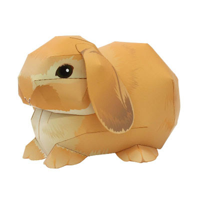 Brown holland lop rabbit paper