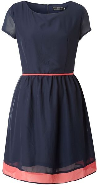 Stylish Navy And Pink Dress