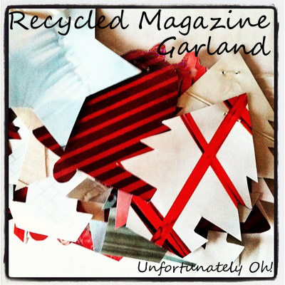 recycled magazine garland