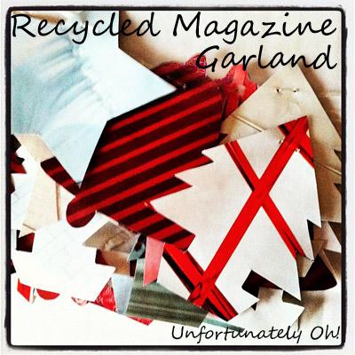 recycled magazine garland