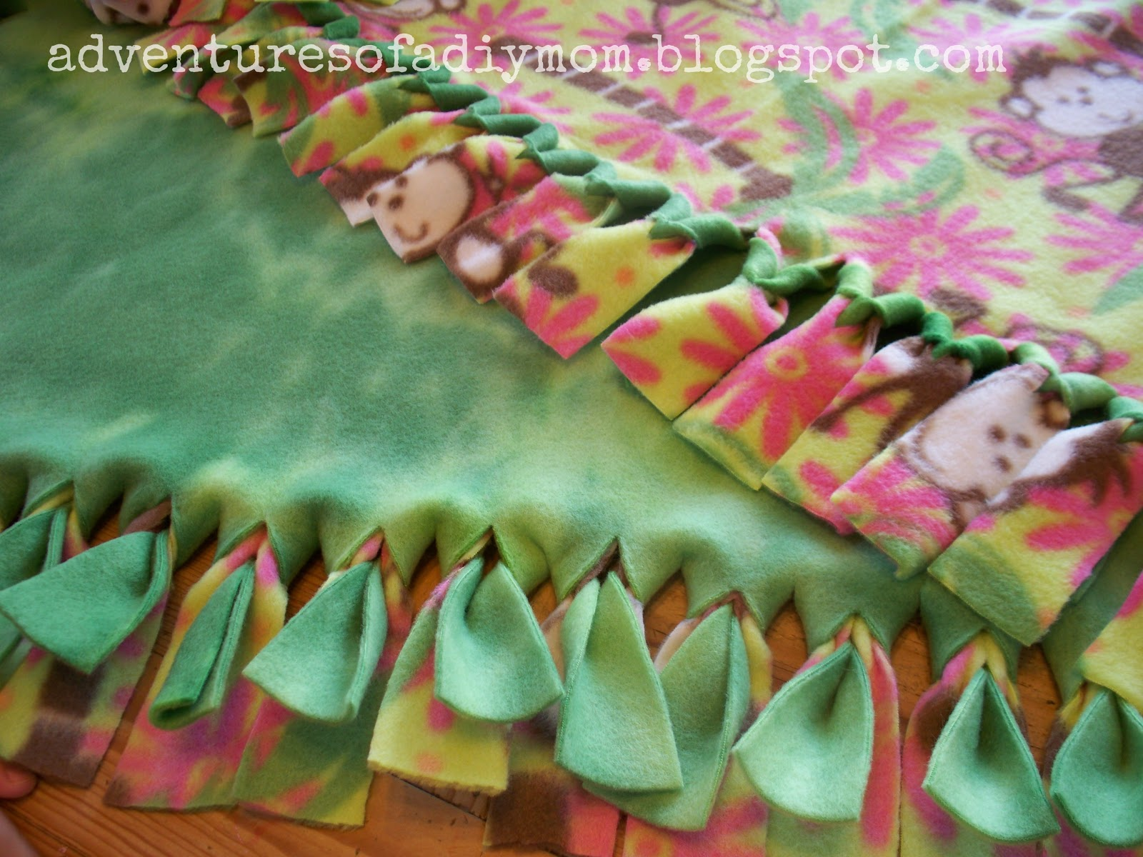 How To Make A No Sew Fleece Blanket Adventures Of A Diy Mom