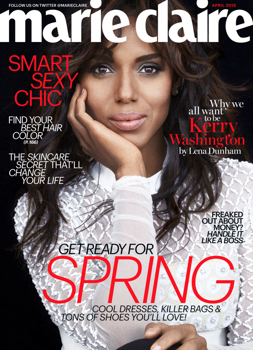 Actress @ Kerry Washington - Marie Claire US, April 2015