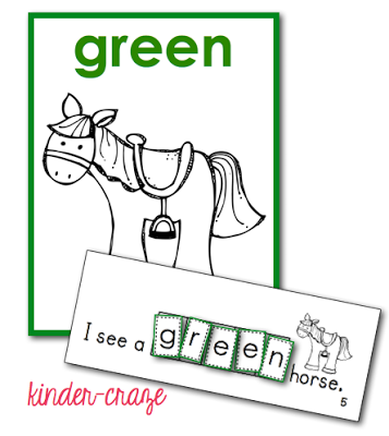 color word Interactive farm book and poster set