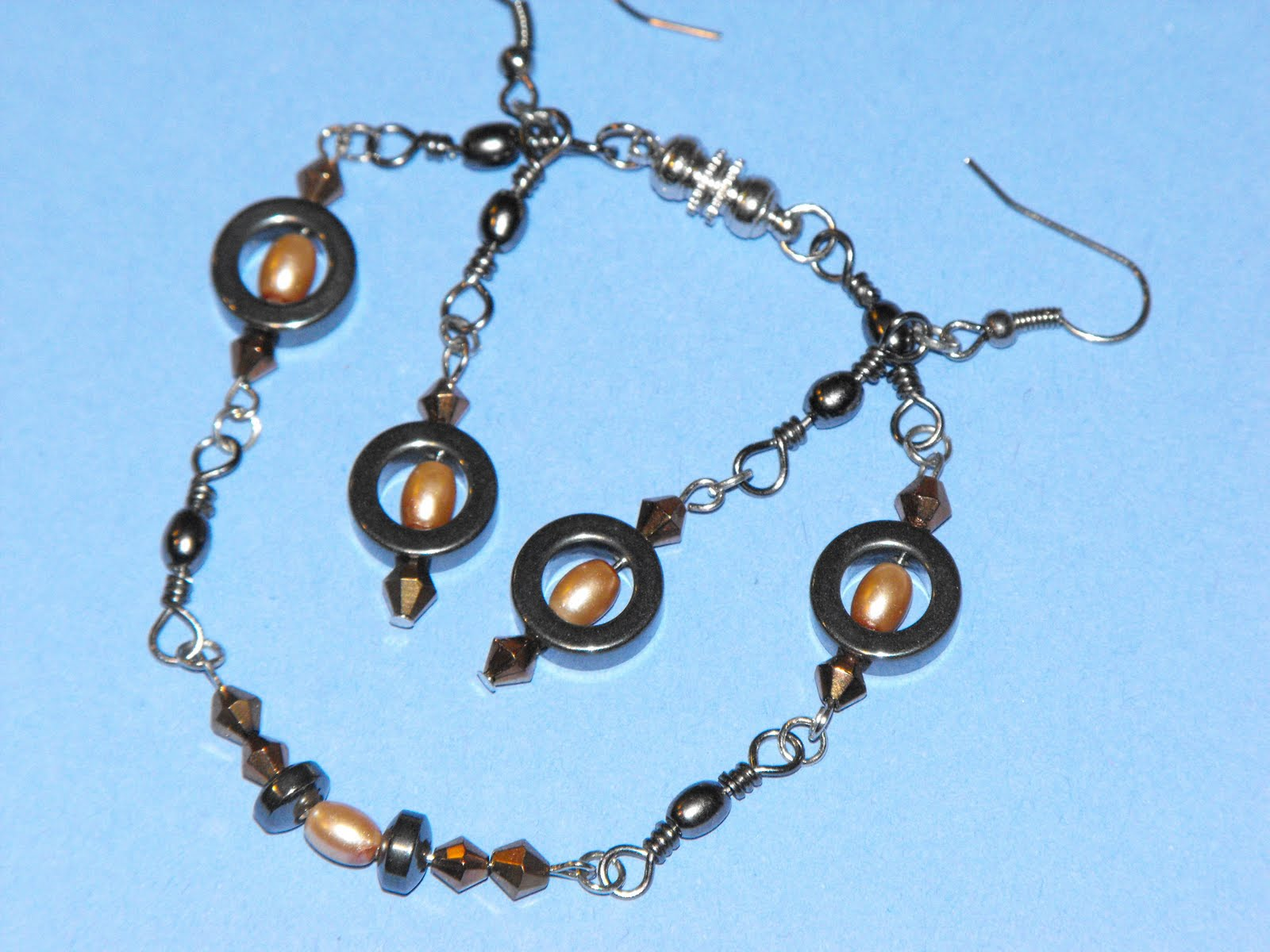 Kreations Done By Hand Upcycled Fishing Swivel Bracelet And