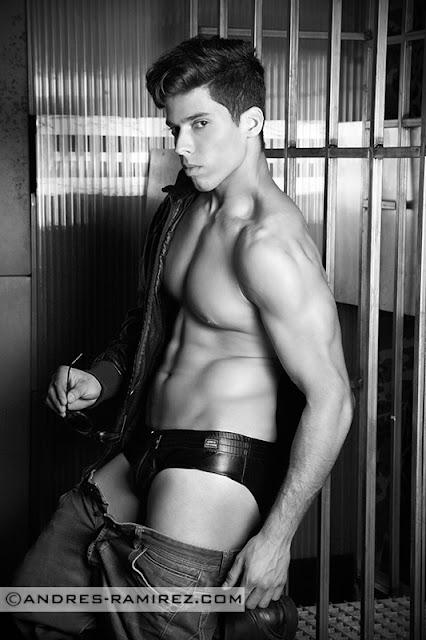 Abraham Arasa in Modus Vivendi underwear - Andres Ramirez