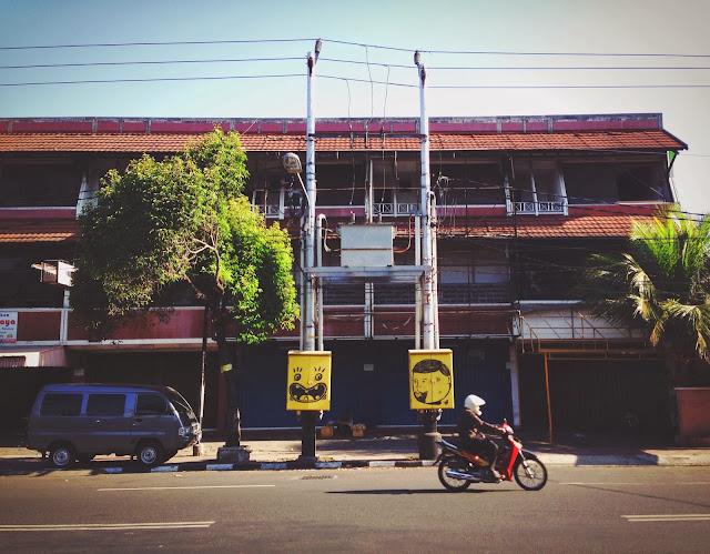 Street Art of Yogyakarta along Jalan Solo- Spongebob Cable box