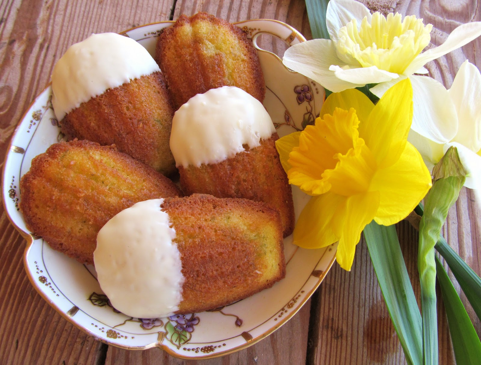 Carrington Lane Bakery: White Chocolate Dipped Lime Madeleines