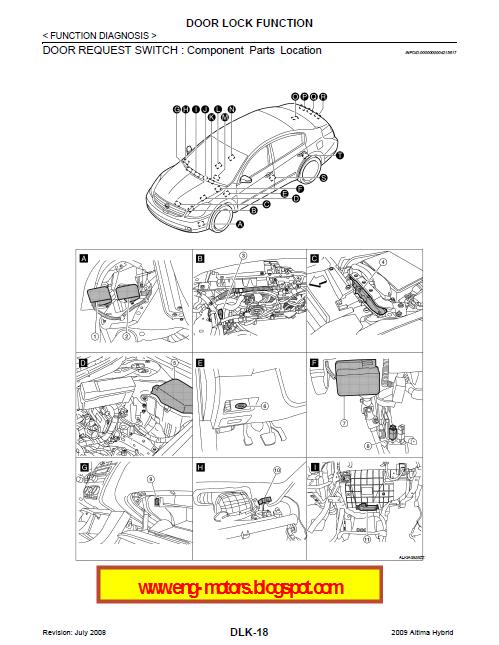 nissan altima service manual service spare parts catalog. Black Bedroom Furniture Sets. Home Design Ideas