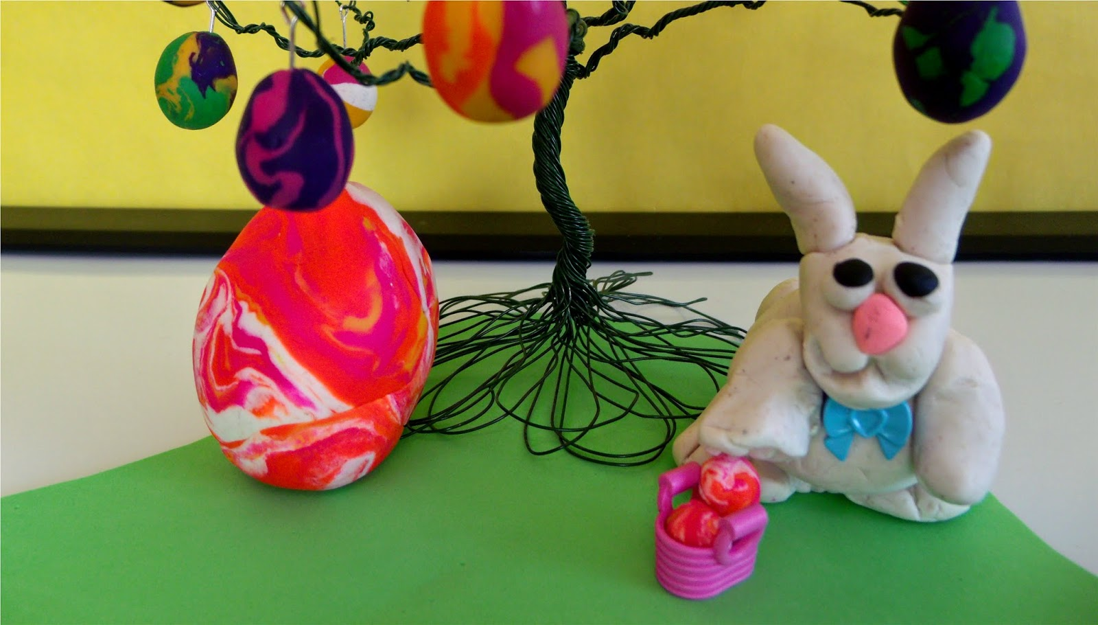 Easter Bunny from Play Doh