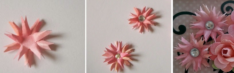 handmade paper flower tutorial using retro flower punch