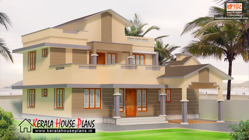 Beautiful double storied kerala house