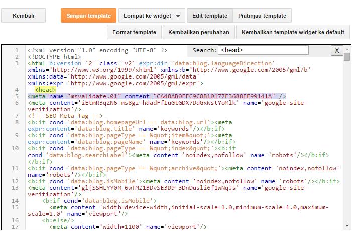 Langkah-langkah mendaftarkan situs di Bing Webmaster Tools 5
